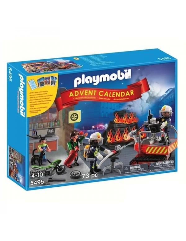 Calendario dell'Avvento Pompieri in Azione Playmobil