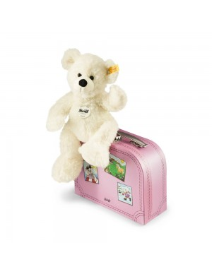 Lotte Teddy bear in suitcase pink